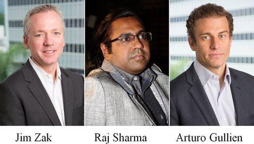 L to R: Jim Zak, Raj Sharma, Arturo Gullien (PRNewsFoto/Majestic MRSS)