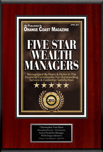 """Christopher Van Horn Selected For """"Five Star Wealth Managers"""". (PRNewsFoto/American Registry) ..."""