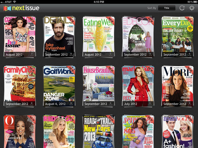 Expanded Next Issue Catalog for iPad.  (PRNewsFoto/Next Issue Media)