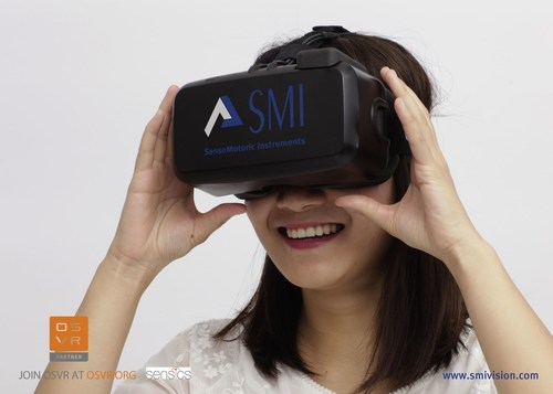 Sensics and SMI bring Virtual Reality Eye Tracking to OSVR (PRNewsFoto/SensoMotoric Instruments GmbH (S) (PRNewsFoto/SensoMotoric Instruments GmbH (S)