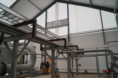Legacy Building Solutions engineered this fabric structure for Plum Energy services to process liquefied natural gas in Tioga, North Dakota.