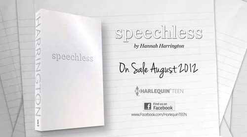 Speechless, a new Harlequin TEEN novel by Hannah Harrington that centers around teen bullying.  (PRNewsFoto/Harlequin TEEN)