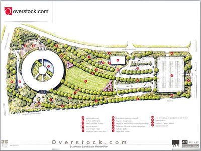 Overstock.com's Corporate Campus Schematic Landscape. (PRNewsFoto/Overstock.com, Inc.)