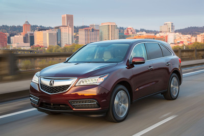 Acura division sales up 10.5 percent with MDX and RDX setting monthly records. (PRNewsFoto/American Honda Motor Co., Inc.) (PRNewsFoto/AMERICAN HONDA MOTOR CO__ INC_)