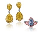 Rare Fancy Intense Blue Diamond And Fancy Intense Yellow Diamonds Unveiled