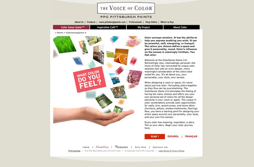 PPG Pittsburgh® Paints Launches New Color Sense Game™ 2.0