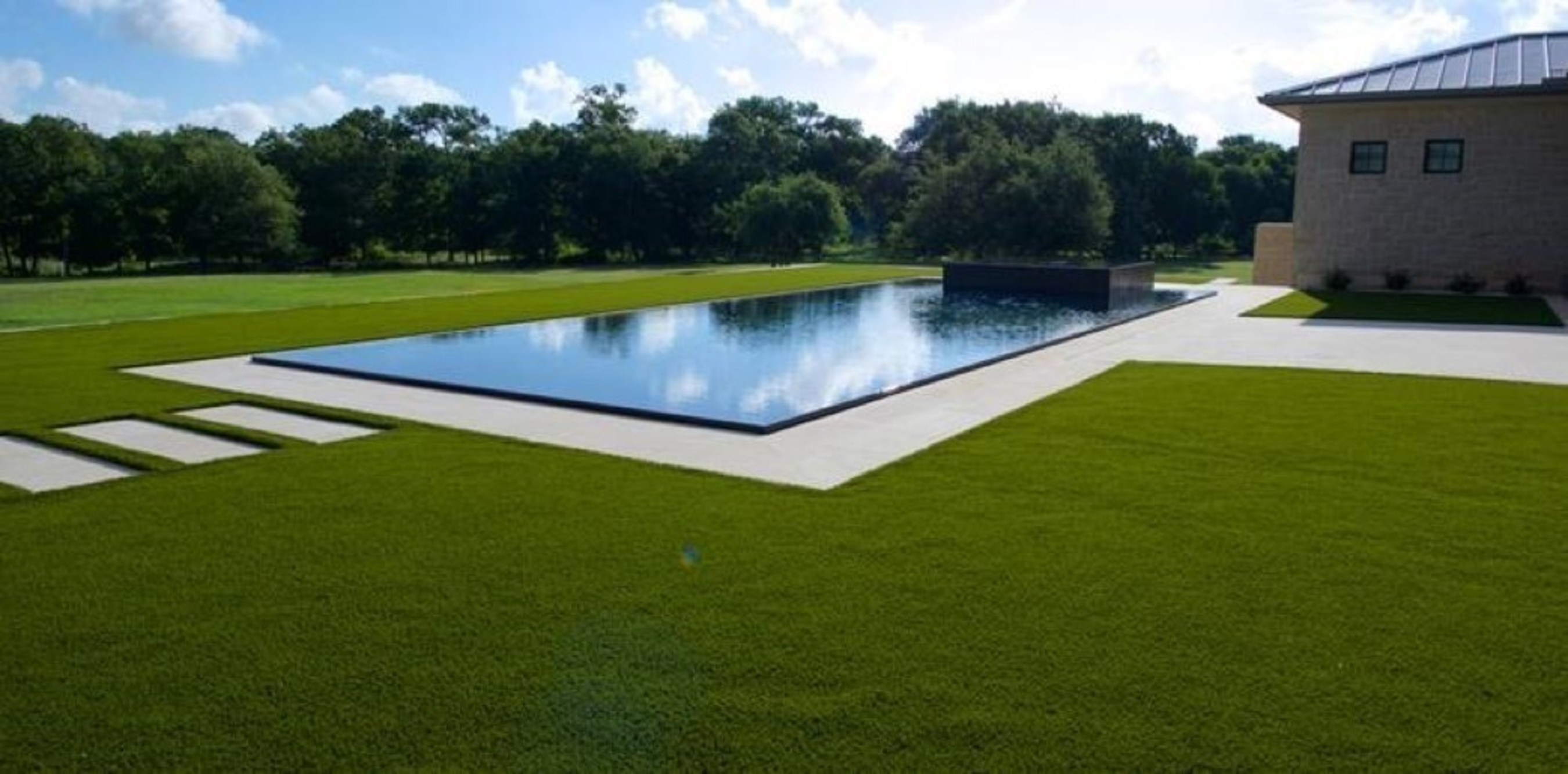 LawnPop artificial grass installation at a home in Austin, Texas.