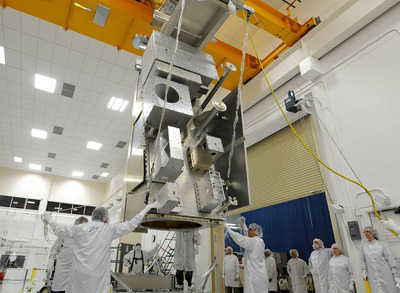 The Ball Aerospace JPSS-1 for NOAA and NASA is meeting all milestones for a 2017 launch.  The satellite will assure continuity of the nation's future weather and storm forecasting and is the first satellite in the JPSS series of next generation satellites.  (PRNewsFoto/Ball Aerospace & Technologies Corp.)
