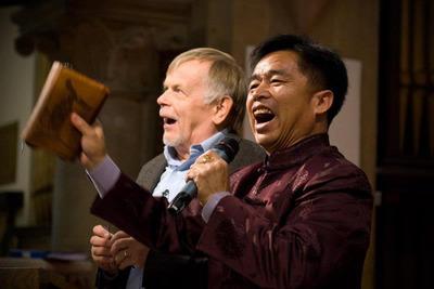 Brother Yun Speaking. (PRNewsFoto/Blake Templeton) (PRNewsFoto/BLAKE TEMPLETON)
