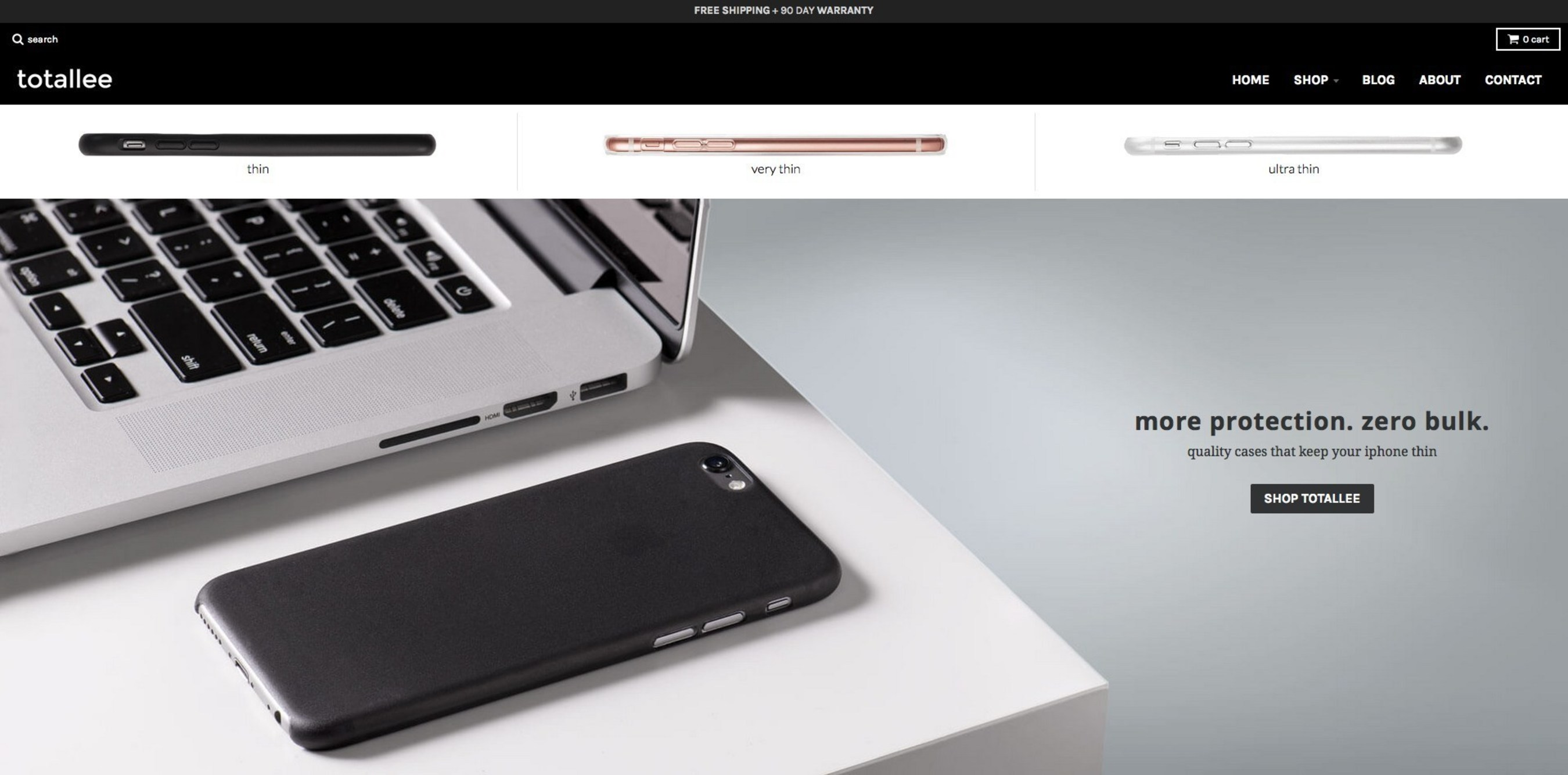 Totallee, the Incredibly Thin iPhone Cases Provider, Launches Its Redesigned and Minimalistic Website