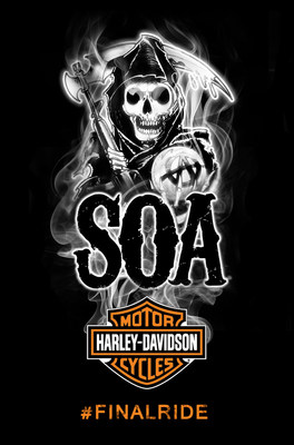 "Harley-Davidson And ""Sons of Anarchy"" Fans Gear Up For The Final Ride (PRNewsFoto/Harley-Davidson Motor Company)"