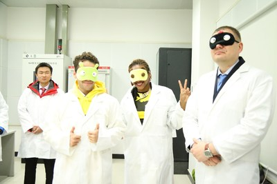 XCMG Apprentices wearing eye masks were about to get a surprising experience in Asia's largest vibration and noise lab.
