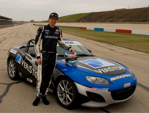 Devin Jones will race in the SCCA Pro Racing Mazda MX-5 Cup this year for C.J. Wilson Racing. (PRNewsFoto/VeriStor Systems, Inc.) (PRNewsFoto/VERISTOR SYSTEMS, INC.)