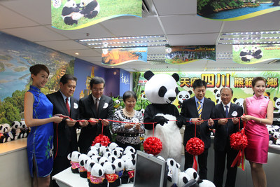 """""""1,000 Charter Flight Tours to Sichuan"""" Promotion Receives a Warm Response at the First Stop-Hong Kong (PRNewsFoto/Tourism Administration...)"""