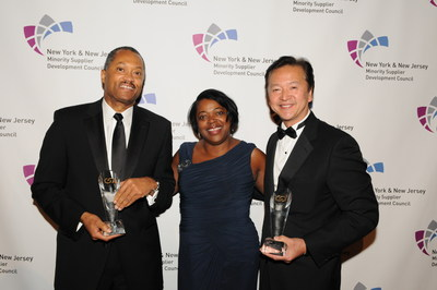 Left to Right: Anthony S. Kendall, Chairman and Chief Executive Officer,  Mitchell & Titus, LLP; Jeannie Maddox, Council Board Chair and Manager, Supplier Diversity and Global Procurement Strategies, Colgate-Palmolive Company; Donald Chu, President & CEO,  Tronex International Incorporated