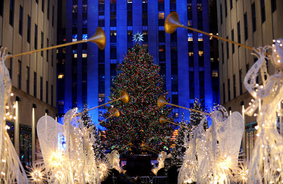 Lumber milled from the 2015 Rockefeller Center Christmas Tree will be donated to Habitat for Humanity of Greater Newburgh. (Photo courtesy of Diane Bondareff/Invision for Tishman Speyer/AP Images)