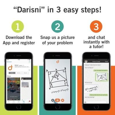 Darisni provides students instant access to prescreened and proficient tutors worldwide. (PRNewsFoto/Darsini)