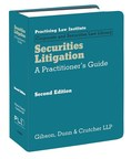 PLI Publishes Securities Litigation: A Practitioner's Guide, Second Edition