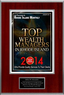 "Jeffrey Alexander Selected For ""Top Wealth Managers In Rhode Island"". (PRNewsFoto/American Registry) (PRNewsFoto/AMERICAN REGISTRY)"