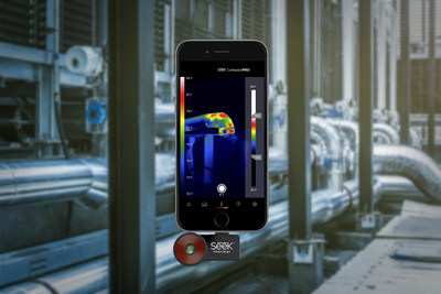 Seek CompactPRO thermal image camera.