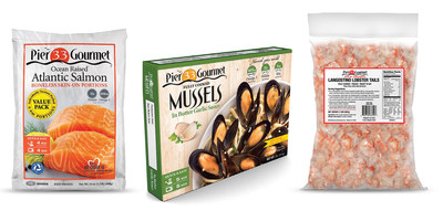 Pier 33 Gourmet offers meticulously selected, 'clean', sustainably sourced Ocean Raised (R) Atlantic Salmon, rope cultured Fully Cooked Mussels and Wild Caught Langostino Lobster Tails for quick and easy, flavorful meal inspirations that are gluten free and non GMO.