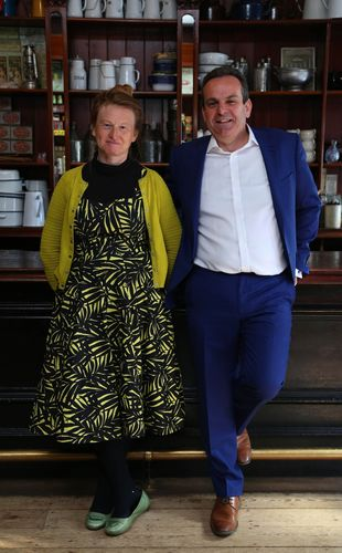 Left to right - Ruth Goodman Independent expert and social historian Ian Cracknell CEO of UIA (PRNewsFoto/UIA Insurance)
