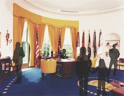 An exact replica of President Nixon's Oval Office will be the centerpiece of the New Nixon Library opening Oct. 14, 2016. The Oval Office exhibit is a gift of Ambassador and Mrs. George L. Argyros.