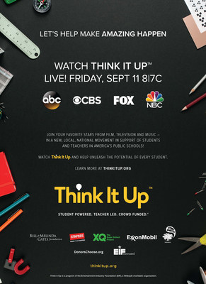 Watch Think It Up Live! Friday, Sept 11th 8|7C