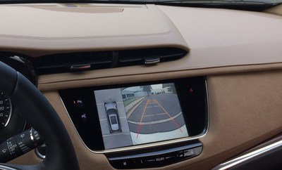 Rearview camera image in 2017 Cadillac XT5.