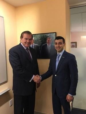 Gov. Tom Ridge and Sergey Petrossov