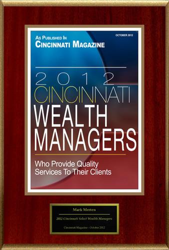 "Mark Merten Selected For ""2012 Cincinnati Select Wealth Managers"".  (PRNewsFoto/American Registry)"