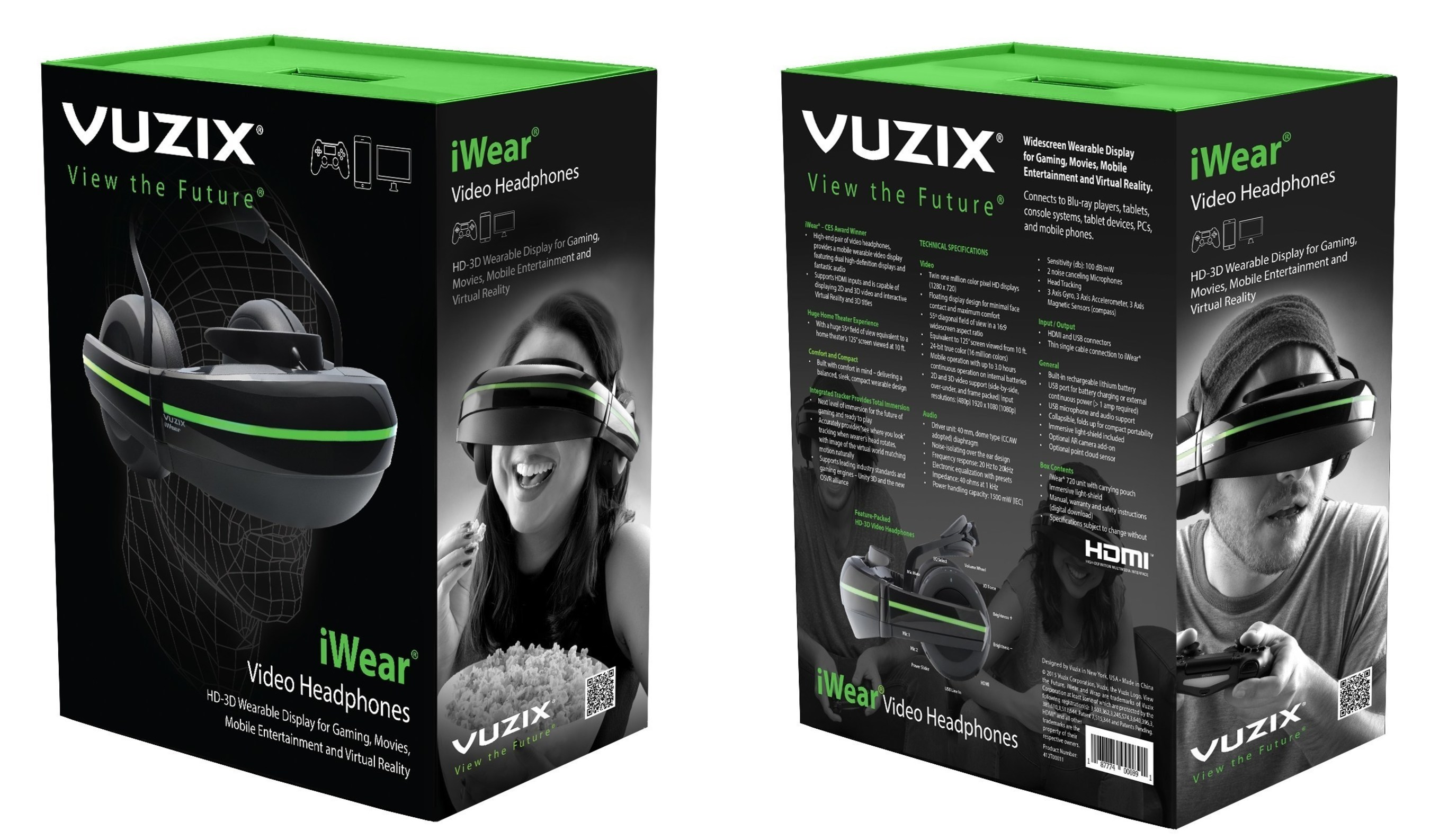 Vuzix Commences First Production Shipments of iWear Video Headphones to Developers