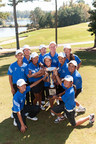 Team California poses with their trophy after capturing the 2014 PGA Junior League Golf Championship.