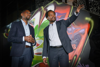 Dr. Solomon Assefa (left) and Wits University Professor Zeblon Vilakazi at site of IBM's new South Africa research lab in Braamfontein, Johannesburg