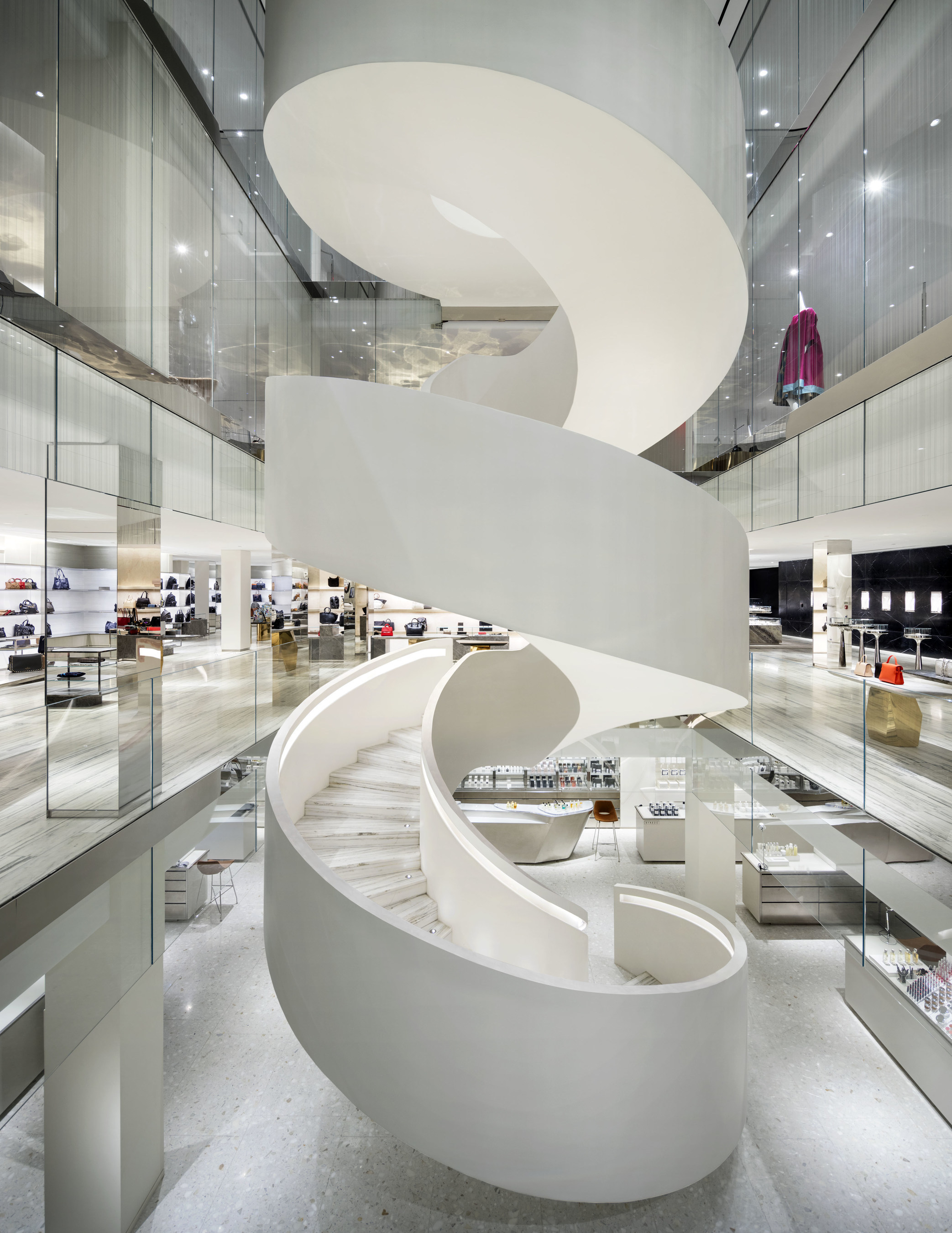 Barneys New York Downtown Flagship - Central Staircase (photo by Scott Frances)