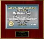 Dr. Duane Kreil, M.D. of Dearborn, MI Named a Patients' Choice Award Winner for 2013