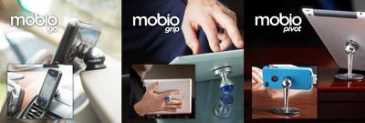 The mobio go, mobio grip and mobio pivot.  (PRNewsFoto/Mobio Holdings LLC)