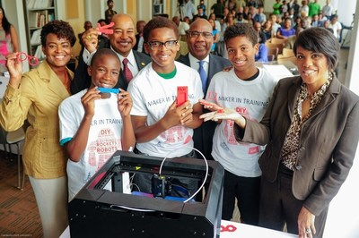 Verizon's Minority Male Makers program helps boys learn coding and 3D design.