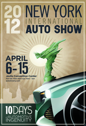 2012 New York Auto Show Poster Combines the Freedom and Liberty of the Automobile & NYC.  (PRNewsFoto/New York ...