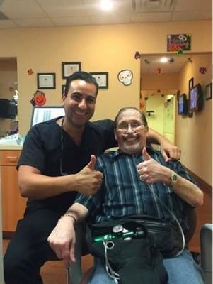 Dr. Mansour with patient