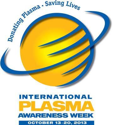 International Plasma Awareness Week Logo.  (PRNewsFoto/Plasma Protein Therapeutics Association  (PPTA))