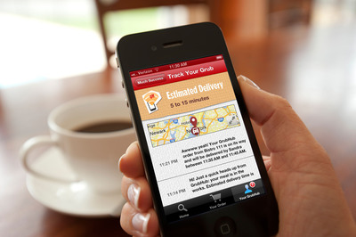 GrubHub diners are provided with unparalleled transparency into the ordering and delivery process through Track Your Grub's SMS text notifications and live mapping of delivery orders.