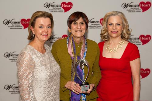 WomenHeart CEO Lisa M. Tate, Congresswoman Rosa De Lauro (CT), and WomenHeart Chair Carrie Wosicki ...