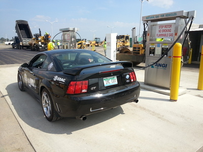 Street Legal Mustang Muscle Car refueling with CNG. (PRNewsFoto/Performance CNG, LLC )