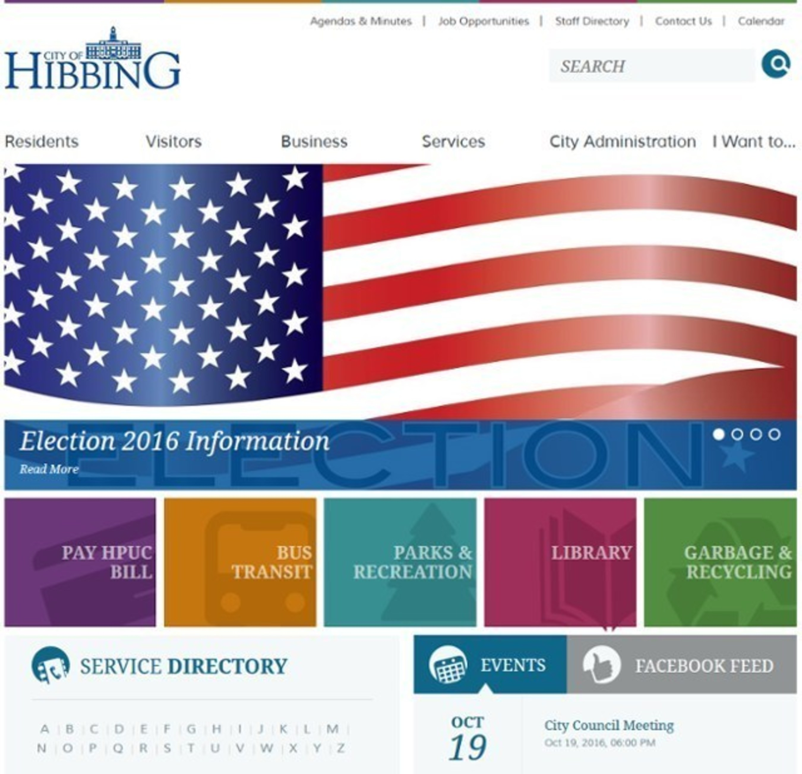 The City of Hibbing, Minnesota is one of many Vision clients using its municipal website to keep voters in the know this election year. Voter information is easy to find and available 24/7.