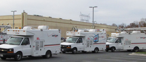 Verizon FiOS trucks, technicians are on their way from Maryland to help restore services in New Jersey.  ...