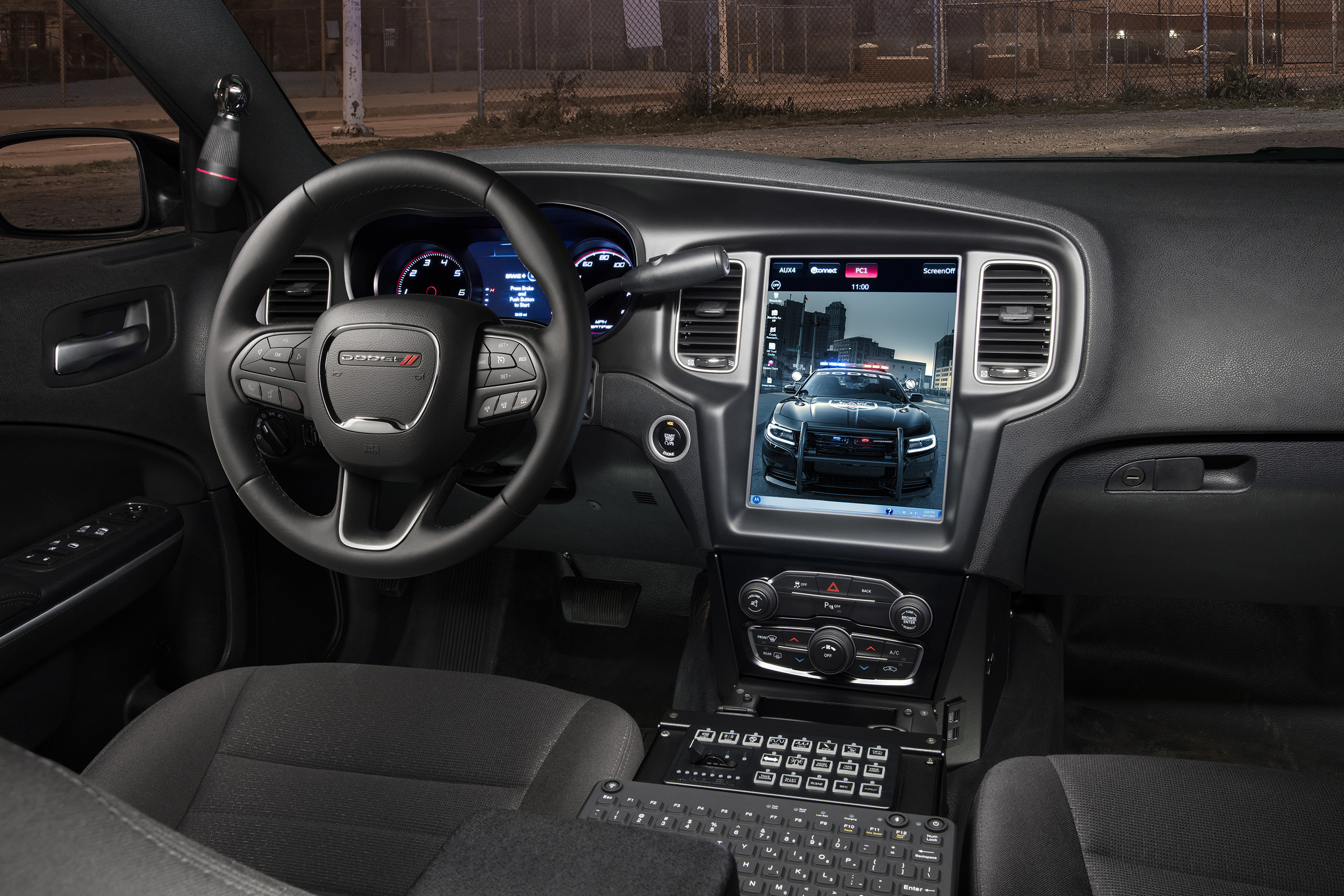 Dodge Goes Big, Leads in Tactical Technology: Laptop-sized 12.1-inch Touchscreen Display Integrates Law Enforcement Systems and Innovative Uconnect Technology on 2016 Cha