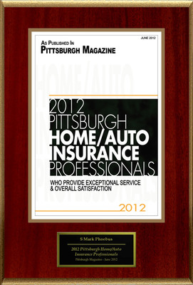 "S Mark Phoebus Selected For ""2012 Pittsburgh Home/Auto Insurance Professionals"".  (PRNewsFoto/American Registry)"