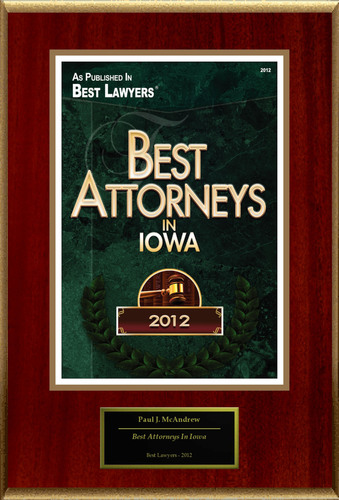 "Paul J. McAndrew Selected For ""Best Attorneys In Iowa"".  (PRNewsFoto/American Registry)"