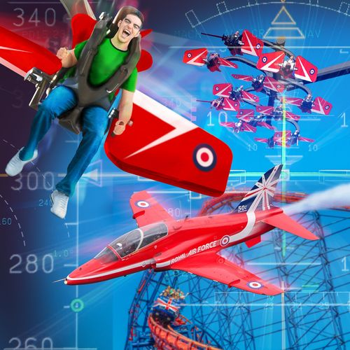 Blackpool Pleasure Beach is to be the first amusement park in the world to launch a new ride in collaboration with the Red Arrows. The Red Arrows Sky Force thrill ride will open in the Spring of 2015. (PRNewsFoto/Blackpool Pleasure Beach)